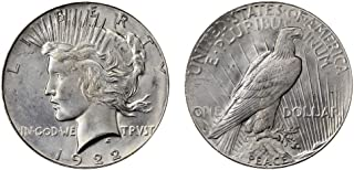 1922 S Peace Silver Dollar Extremely Fine