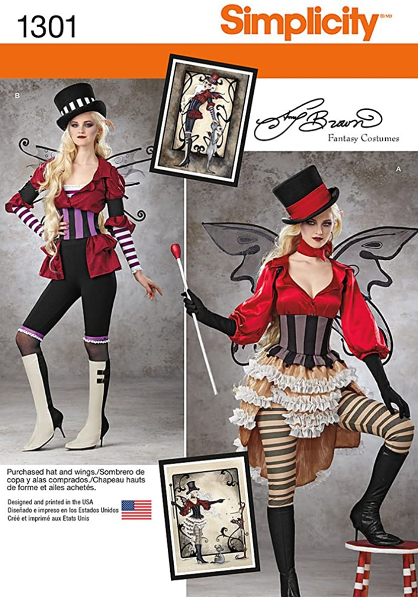 Simplicity Amy Brown Fantasy Costumes Pattern 1301 Misses Steampunk Inspired Costumes Sizes 6-8-10-12-14