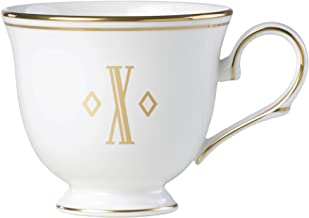 Lenox Federal Gold Block Monogram Dinnerware Teacup, X