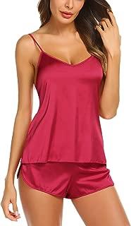 Sleepwear Womens Sexy Lingerie Satin Pajamas Cami Shorts Set Nightwear