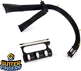 Gutter Fingers Gutter Cleaning Tool, NEW and IMPROVED Eavestrough Cleaner - Eliminate Ladder Risk! Grabs Leaves and Cleans Gutters up to 2 Story High Roof (Standard Swimming Pool Pole Sold Separately)