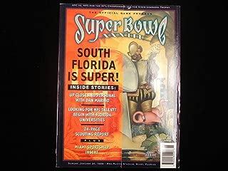 1999 Super Bowl XXXIII Program - Denver Broncos vs. Atlanta Falcons - Sports Memorabilia