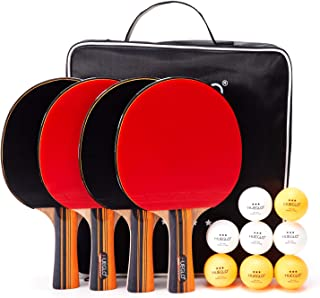 table tennis bats and rubbers