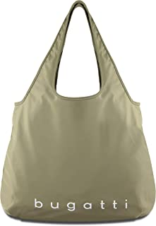 Bugatti Bona Shopper L, Handtasche Damen Groß, Damenhandtasche Schultertasche - Olive