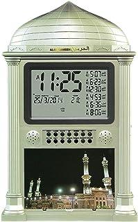 DEAGUI Azan Alarm Clock - Islamic Digital 5 Namaaz Reminder Wall Clock 4002 Gold