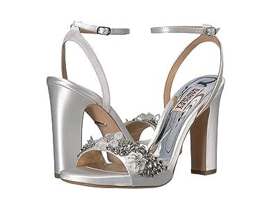Badgley Mischka Alexa (Soft White Satin) High Heels