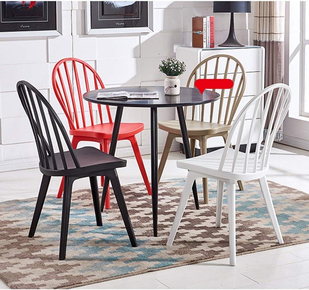 PAN Chaises Windsor, Chaise de Salle à Manger en Plastique, Design empilable, Design d'intérieur, Cuisine, Chambre à Coucher, Chaises d'appoint (Color : Red) White