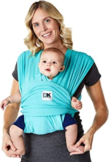 Baby K'tan Breeze Baby Wrap Carrier, Infant and Child Sling - Simple Wrap Holder for Babywearing - No Rings or Buckles - Carry Newborn up to 35 lbs, Teal, Medium (W Dress 10-14 / M Jacket 39-42)