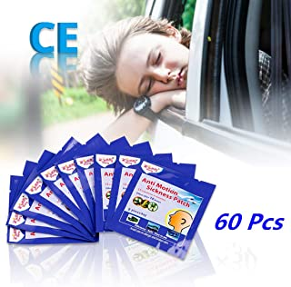 ifory 60 Pcs Motion Sickness Patches for Cruise, Car, Airplane, Travel, Sea Sickness Patches Behind Ear, Anti Nausea and Non Drowsy