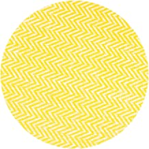 LinenTablecloth Round Chevron Placemats Yellow