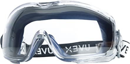 Uvex Stealth OTG Safety Goggles with Anti-Fog/Anti-Scratch Coating (S3970DF ) - 19369, Navy Body, Clear Lens