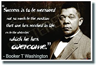 booker t washington success is to be measured