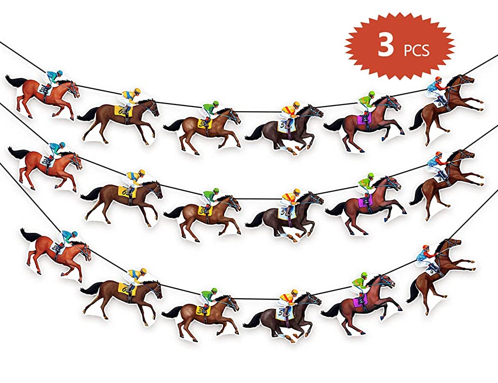 90shine Kentucky Derby Banners Party Supplies Horse Racing Streamers Decorations(3PCS)