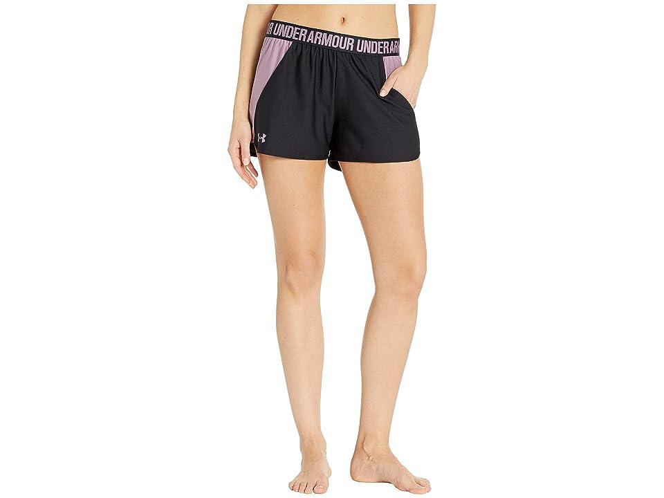 Under Armour New Play Up Shorts (Black/Purple Prime/Purple Prime) Women's Shorts