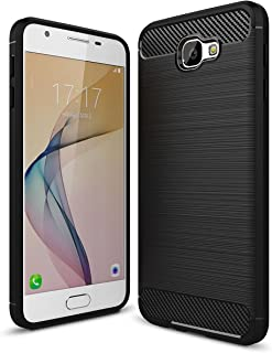 CELLBELL® Rugged Armor Back Cover for Samsung Galaxy J7 Prime-Midnight Black.