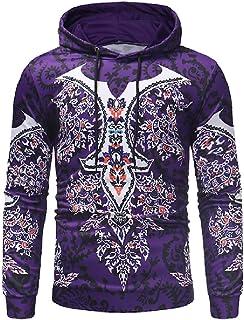 Mogogo Men's Vintage Navajo Floral Coat Autumn Outwear Pullover Sweatshirts