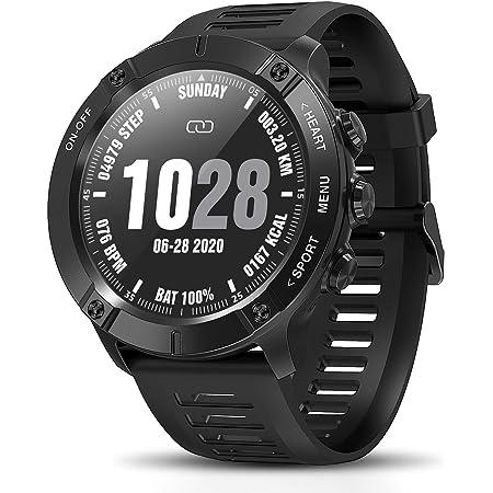 CatShin Reloj Inteligente Hombre,Smartwatch,Impermeable IP68 para Android iOS y Samsung Huawei Xiaomi Google iPhone Teléfono,con Monito de Sueño Pulsómetro Presión Arterial Podómetro Caloría