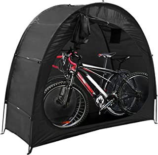 Bike Tent, Outdoor Bike Shed by JeemeeSpace, Heavy Duty Bike Storage Shed for Camping, Waterproof Bicycle Storage Shed for...