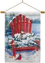 Breeze Decor HS114193-BO-03 Red Chair Winter Wonderland Decorative Vertical House Flag Set, 28