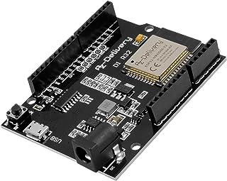 AZDelivery Scheda di sviluppo D1 R32 ESP32 CH340G WiFi e Internet Bluetooth, compatibile con Arduino, e-Book incluso!