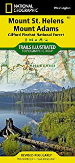 Mount St. Helens, Mount Adams [Gifford Pinchot National Forest] (National Geographic Trails Illustrated Map)