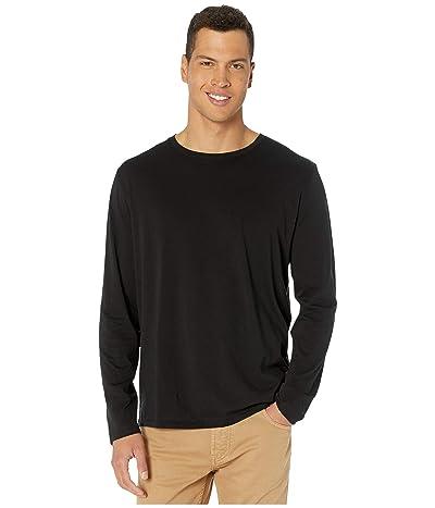 Vince Long Sleeve Crew T-Shirt (Black) Men