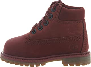 "Timberland Premium 6"" Waterproof Boot Toddler's Shoes Burgundy tb0a1vgc"