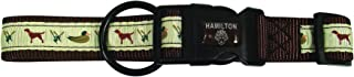 Hamilton FAL RO DGBR Outdoorsman Collection Dog and Duck Pattern Adjustable Dog Collar, 1 by 18 to 26-Inch