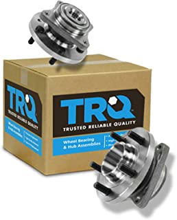TRQ Front Wheel Hub & Bearing Assembly Pair Set for 04-09 Prius
