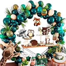 Forest Theme Party Decoration 148Pcs10In Green Transparent Balloon Garland Arch Kit Green Leaves Dinosaur Birthday Country Wedding Baby Shower Jungle Safari Theme Christmas