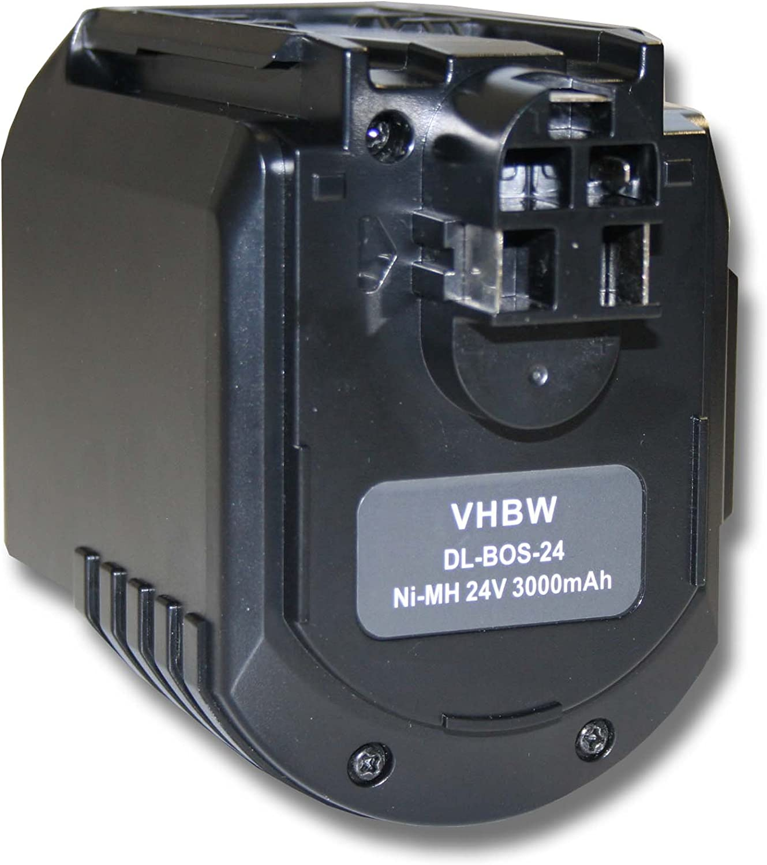vhbw Batería recargable reemplaza Würth 0702300924, APBO/SL 24VBAT020, WA 24V para herramientas eléctricas (3000 mAh NiMH 24 V)