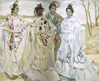 Iturrinofrancisco (1864-1924) Women With Shawls Oil On Canvas ? AisaEverett Collection (92090) Poster Print (24 x 18)