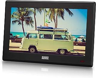 "August DA100D – 10"" Tragbarer HD TV DVB-T2 MPEG4 H.264/H.265/HEVC – LCD Fernseher mit PVR & Multimedia Player – Digital & ..."