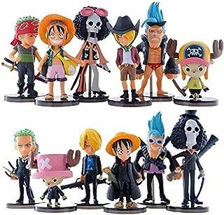 Vbnmda 12 Unids/Set Cute Mini One Piece Figura PVC Figuras de Acción Brinquedos Colección Figuras Juguetes