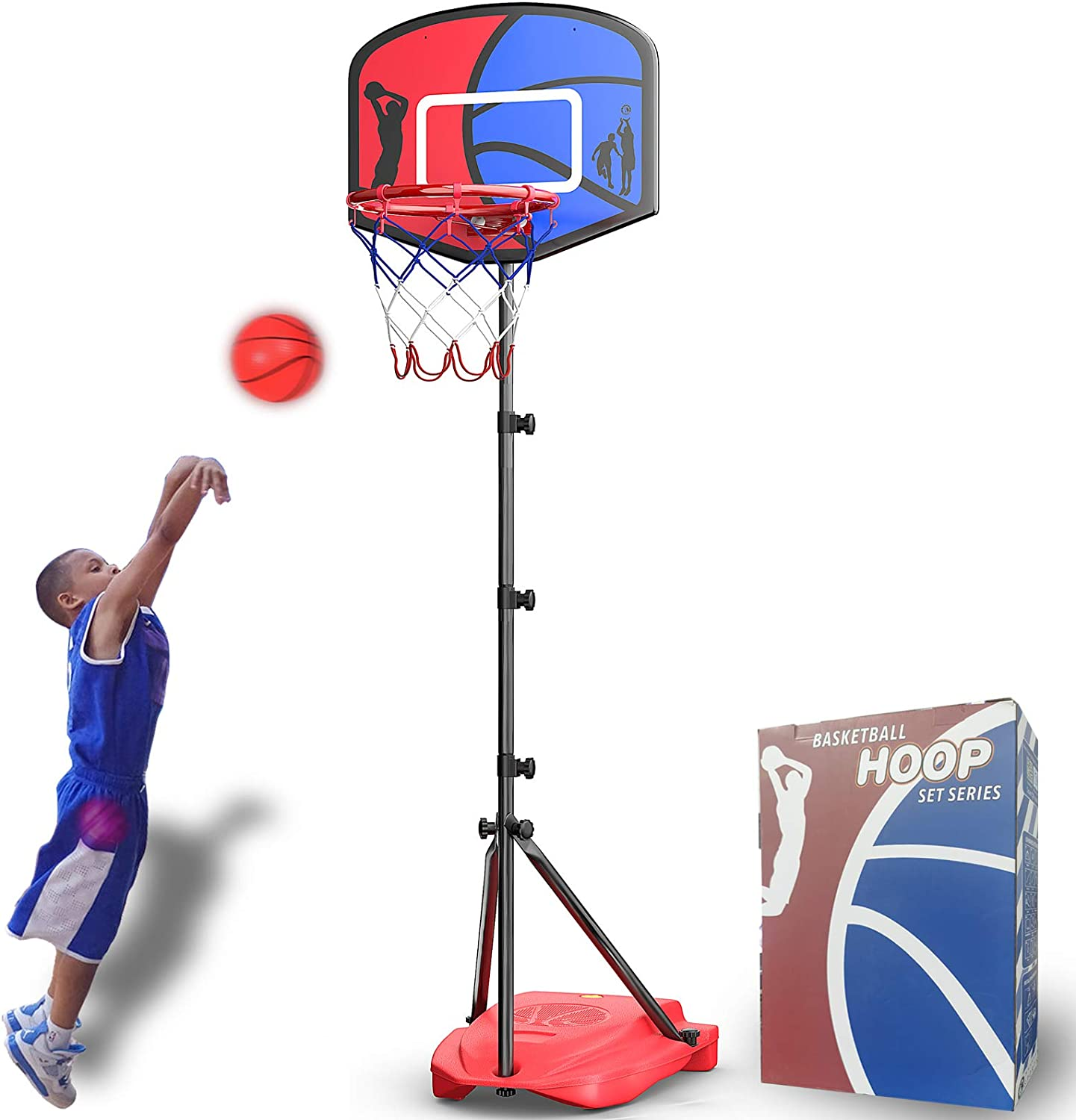 Price reduction HAHAKEE Kids Basketball Hoop Height-Adjustable FT-6.1 I 2.9 Spring new work FT