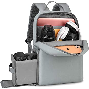 """CADeN DSLR Camera Backpack Bag with Laptop Compartment 14"""", Camera Case Backpack Waterproof with Side Access and Tripod Holder for Photographers, Mirrorless Cameras Canon Nikon Sony Pentax Lens etc"""