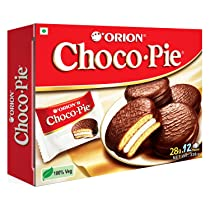 ORION Choco Pie – Chocolate Coated Soft Biscuit 12 Pcs Pack, 336 g