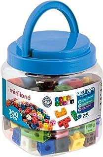 Miniland- 2 cm (100 Piezas) Cubos para Juego Matemático (95210)