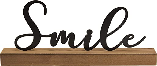 CWI Gifts Smile Tabletop Word Block Sign, Multi