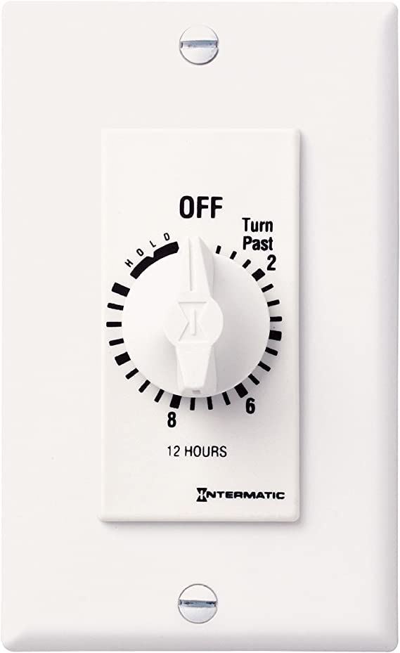 Electrical White Intermatic FD12HHW 12-Hour Spring-Loaded In-Wall ...