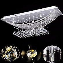 SISVIV Lámpara Cristal de Techo Moderna Luz Colgante Lámparas de Araña 8*G4 Bombilla Led para Salón Comedor Villa Hotel