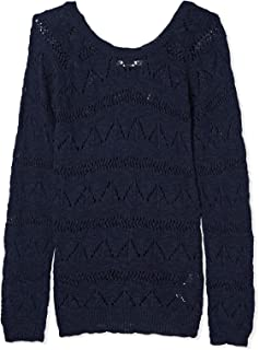 Bershka Croche Blouses For Women, Navy, Size M