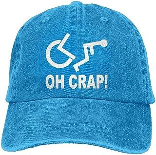 Lixinli Crap Wheelchair Denim Hat Adjustable Unisex Cute Baseball Hats