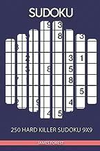 250 Hard Killer Sudoku 9x9: Sudoku puzzle book for adults