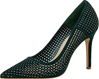 Sexy High Heel Shoes Women Shallow Mouth Flock Crystal Hollow High Heels Womens Ladies