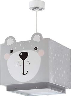 Dalber Little Teddy Lámpara Infantil de Techo Oso Animales, 60 W, Gris