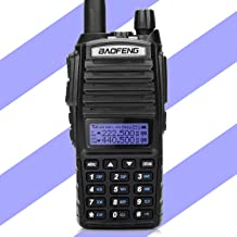 BaoFeng x Radioddity UV-82X3 Tri-Band Radio VHF 1.25m UHF Handheld Portable Amateur (Ham) Two Way Radio with Dual PTT, Programming Cable, Dual Band and 220MHz Antenna