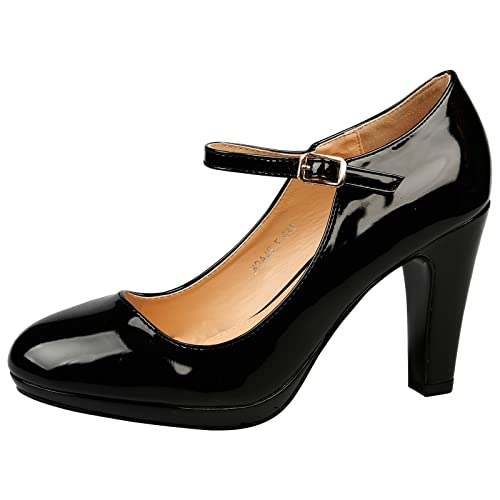 299e9f5aa ByPublicDemand Emmeline Womens High Heel Classic Mary Jane Shoes