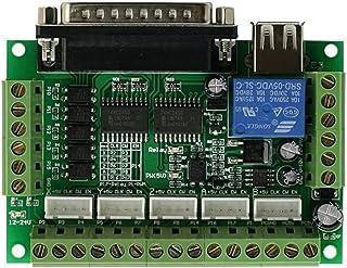 UEETEK 5 ejes CNC Breakout junta con acoplador óptico 5V MACH3 para tarjeta Driver Motor paso a paso