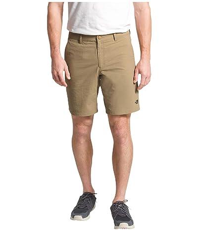 The North Face Flat Front Adventure 7 Shorts (Kelp Tan) Men